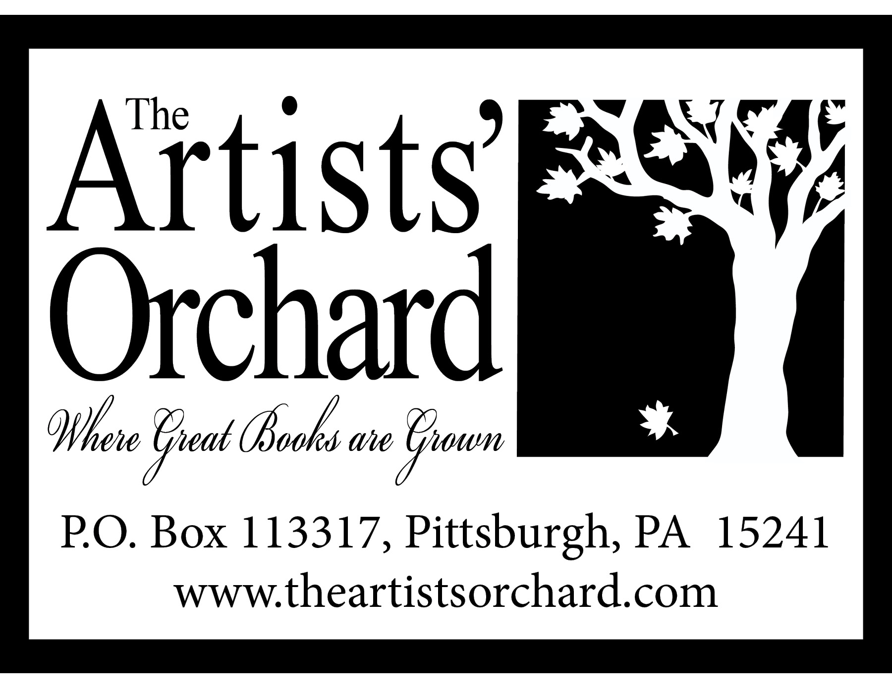 Artists Orchard Logo with border and address